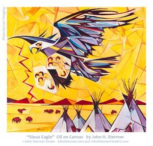 John Stermer Painting: Sioux Eagle and the story about it.