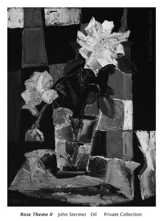 Special: Rose Theme II; grayscale version. ©John Stermer