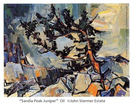 Color Dominance: Sandia Peak Juniper by John Stermer