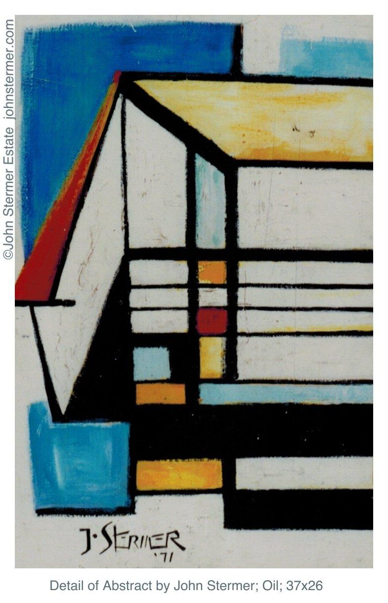 John Stermer Non-Representational Abstract Painting