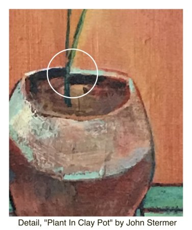 Still Life: Detail, Plant in Clay Pot