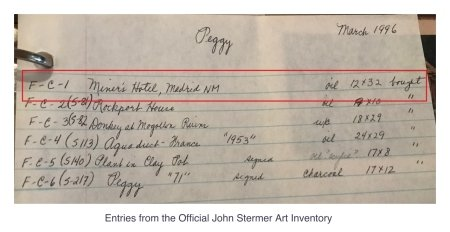 Miner's Motel, Madrid NM: Inventory Page