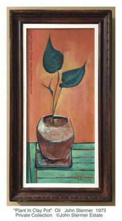 Still Life: Plant In Clay Pot