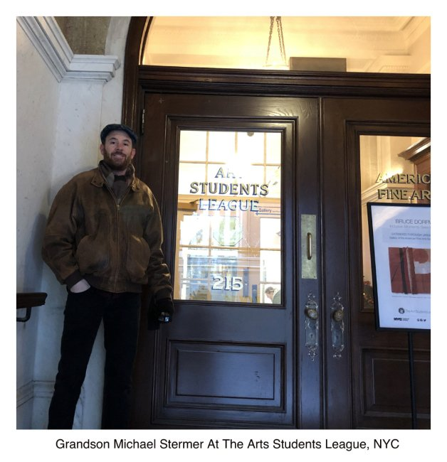 Grandson Michael Visits The Arts Students League