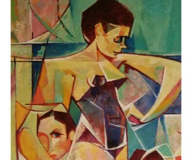 "Detail, ""The Swim Team"" by John H Stermer, New Mexico"