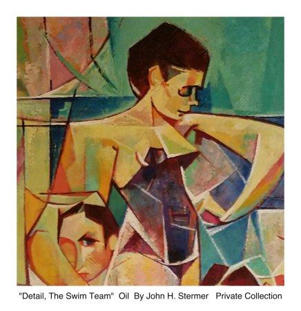 "Detail, ""The Swim Team"" by John H Stermer, New Mexico"