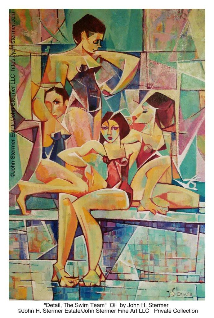 """John H. Stermer, """"The Swim Team"""""""