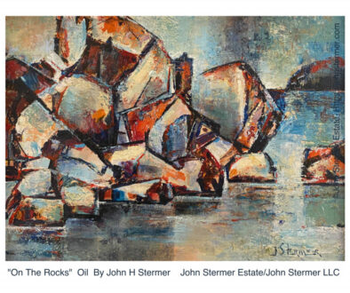 """""""On The Rocks"""" Oil Painting By John Stermer"""