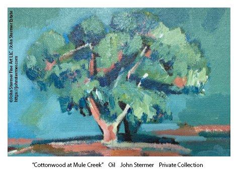 Trees As Subject: Cottonwood At Mule Creek