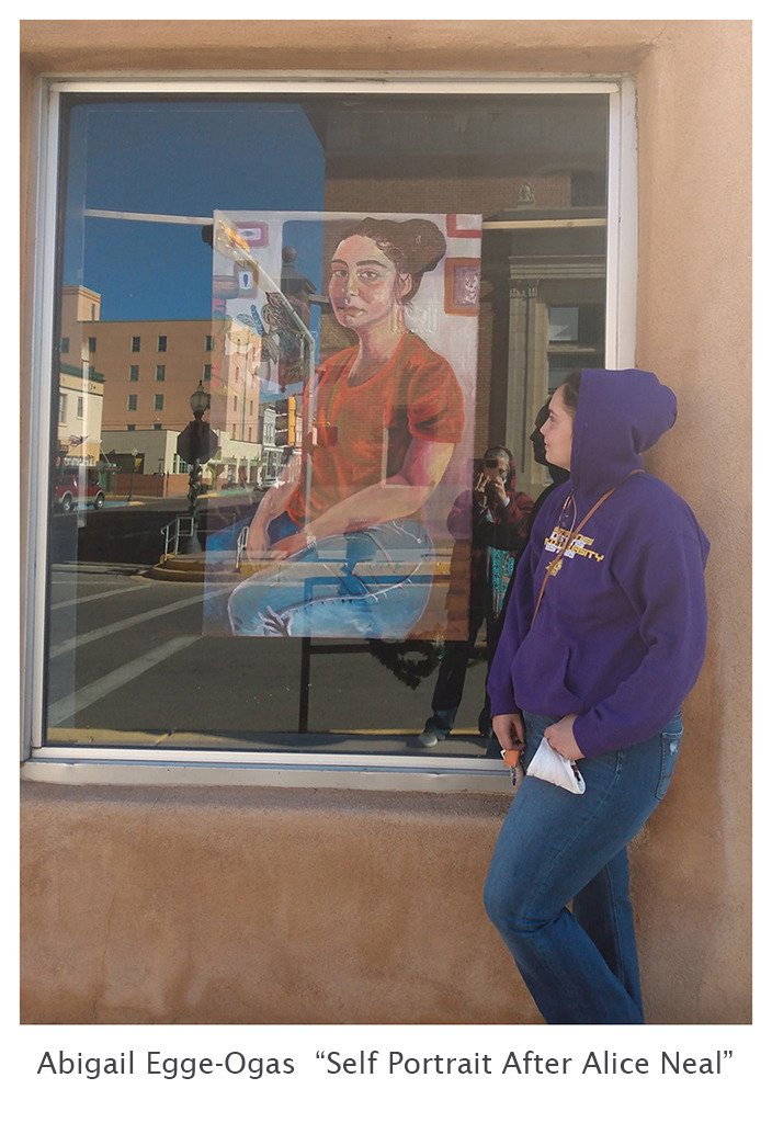 Abigail Egge-Ogas With Self Portrait After Alice Neal
