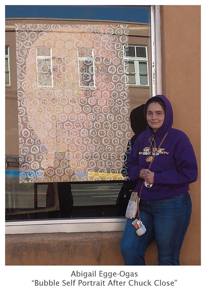 Abigail Egge Ogas with Bubble Self Portrait