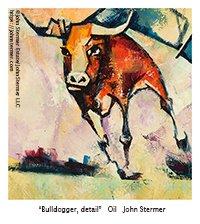 Animal Artwork By John Stermer: Calf from the Bulldogger Painting