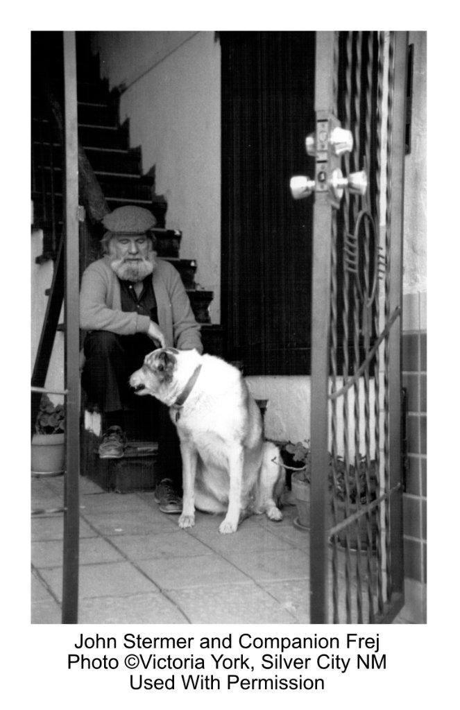 John Stermer and Dog Frej, Photo by Victoria York