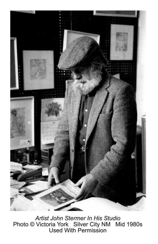 John Stermer In His Studio; photo by Victoria York