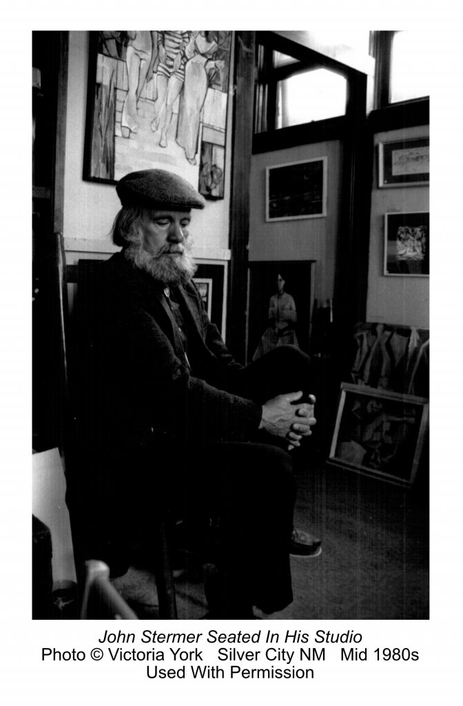 John Stermer Seated In His Studio, photo by Victoria York