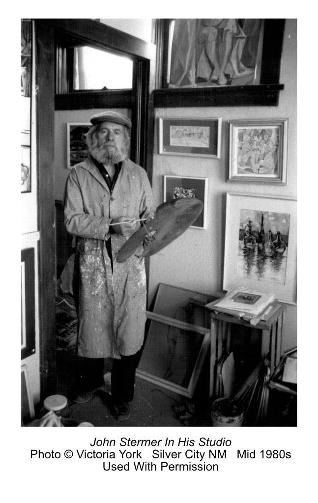Artist John Stermer in his studio; photo by Victoria York