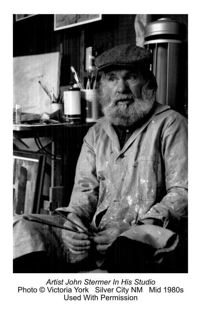 Artist John Stermer in his studio.