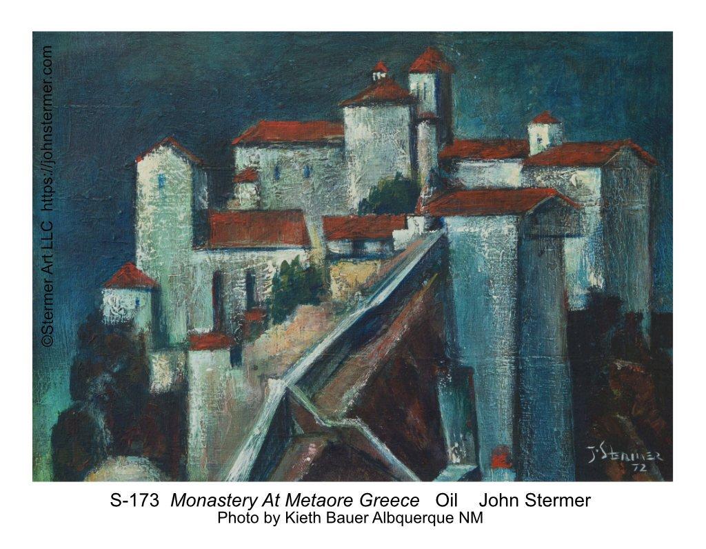 John Stermer Painting: Monastery at Metaore, Greece, 1972