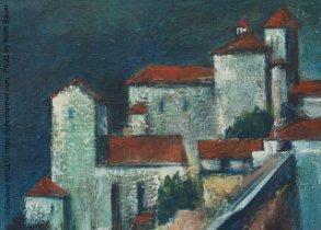 John Stermer Painting Monastery At Metaore Greece, Detail