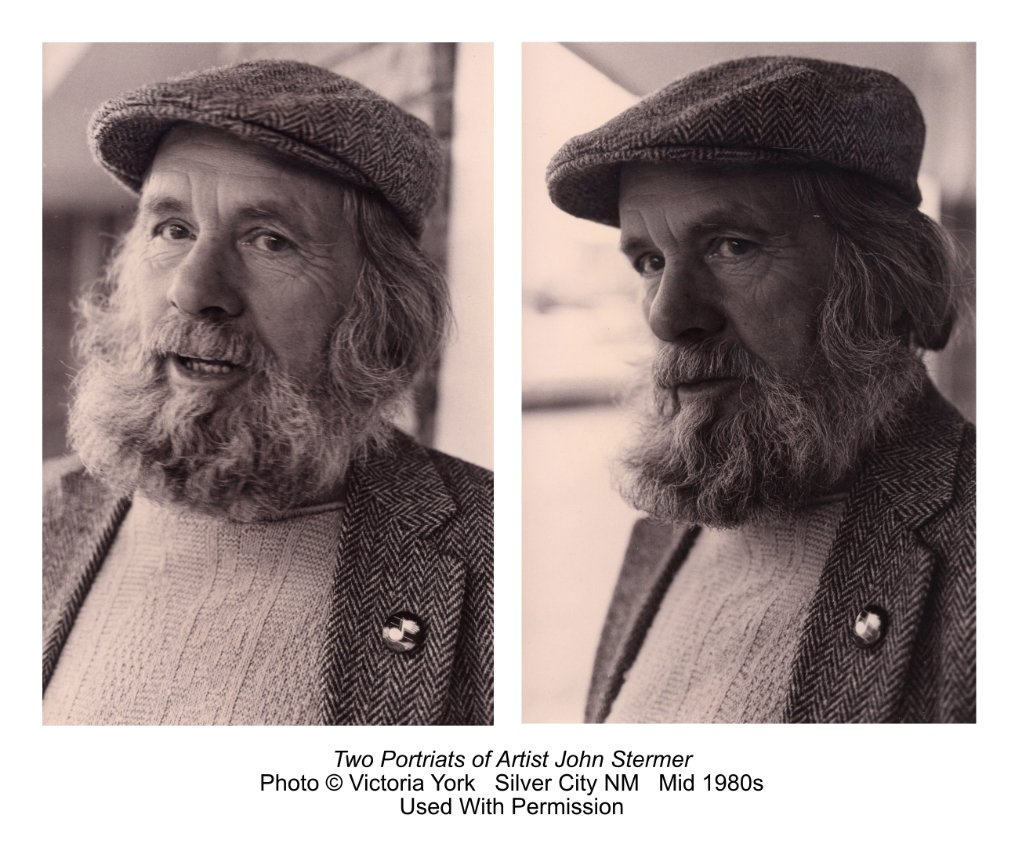Two Portraits of John Stermer, photos by Victoria York